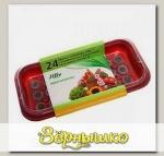 3 по цене 2! 3 мини-теплички Джиффи (24 ячейки) + 72 торфяные таблеток (Jiffy - 7) 24 мм