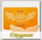Маска для эластичности и молодости кожи шеи Гидрогелевая с экстрактом Золота PETITFE