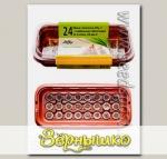 Мини-тепличка Джиффи (24 ячейки) + 24 торфяных таблеток (Jiffy - 7) 24 мм