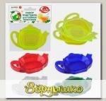 Набор подставок для чайных пакетиков (цвета в ассортименте), 4 шт.