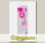 Дорожный набор (розовый): зубная паста + зубная щетка + зубная нить