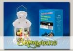 Фонарь со светодиодной гирляндой внутри, на батарейке WW WHITE (белый корпус), 12*20 см