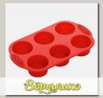Форма MILA для 6 круглых маффинов, силиконовая, 30x18x4,3 см