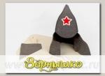 Набор для бани и сауны МУЖСКОЙ в коробке, (шапка, рукавица и коврик)