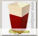 Кашпо Дуэт с фитильным поливом Красный-белый, 1,8 л