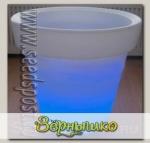 Горшок светящийся Mini Magic flower pot на батарейках, голубой