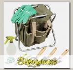 Скамейка садовая складная GRINDA с сумкой + набор инструментов из 7 предметов