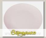 Бамбуковое блюдо круглое MOULINvilla, Белое, 26х26х1,9 см