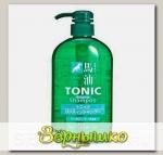 Шампунь для мужчин с Лошадиным маслом и ароматом ментола Tonic COSME STATION, 600 мл