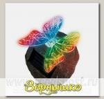 Светильник на солнечной батарее садовый Butterfly on rock