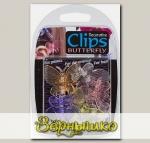 Клипсы для орхидей Бабочки (цветные), 6 шт.