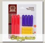 Зажимы для пакетов Классика 12 см и 6,5 см, 10 шт.
