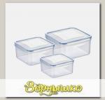 Контейнеры FRESHBOX 0,4, 0,7, 1,2 л (квадратные), 3 шт.