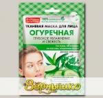 Маска для лица тканевая Народные рецепты Огуречная, 25 мл