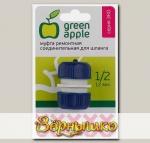 """Муфта-соединитель (ремонтная) для шлангов d 1/2"""" (12 мм), пластик GREEN APPLE (GAEM20-08)"""