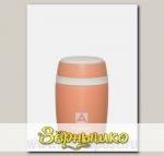 Термос-бочонок бытовой вакуумный для еды Коралловый, 480 мл