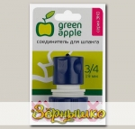 Коннектор GREEN APPLE для шланга 19 мм (3/4), пластик (GAES20-06)