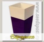 Кашпо Дуэт с фитильным поливом Фиолетовый-белый, 1,8 л