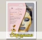 Маска для лица тканевая с Золотой фольгой 24К Gold Silk (Золотой шёлк)