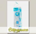 Дорожный набор (голубой): зубная паста + зубная щетка + зубная нить