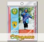Плащ-дождевик с капюшоном детский, пластик, размер L