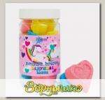 Бурлящие сердечки для ванн Радужная ванна, 150 г