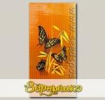 Обогреватель инфракрасный настенный Бабочки желтые на оранжевом