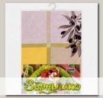 Скатерть CUOCO многоразовая с рисунком Греческие маслины 132 х 178 см, 1 шт.