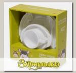 Набор силиконовой посуды для детей AMILA KIDS Белый