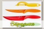 Ножи с неприлипающим лезвием и овощечистка PRESTO TONE, комплект 4 шт.