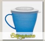 Чашка 0,36 л с герметичной крышкой с Ионами серебра (Цвета в ассортименте)