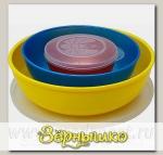 Комплект Матрешка круглая-3 (Цвета в ассортименте)