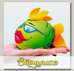 Игрушка-мочалка растущая в воде Рыбка Зеленая