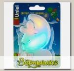 Светильник-ночник светодиодный в розетку Месяц со звездочкой (DTL-301)