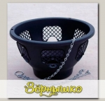 Кашпо пластиковое подвесное Прекрасный цветочный шар, 6 ячеек, зеленое