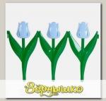 Ограждение Цветы (голубые тюльпаны) 450х300 мм, 6 шт.