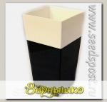 Кашпо Дуэт с фитильным поливом Антрацит-белый, 1,8 л