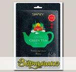 Маска для лица тканевая Ферментная Противовоспалительная GREEN TEA, 25 г