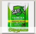 Влажная салфетка от комаров с эфирными маслами, 1 шт.