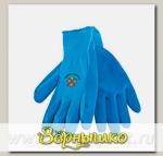 Перчатки LISTOK нейлоновые с каучуковым покрытием, голубой, М