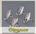 Набор колец для салфеток Рыбки,, 4 штуки, 3057-MR