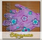 Перчатки садовые Розовая ромашка, XL