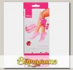 Увлажняющие гелевые носки (роза) розовые
