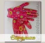 Перчатки LISTOK, нейлон с нитриловым покрытием розовый, M