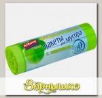 Биоразлагаемые пакеты для мусора с завязками Зеленые 60 л, 10 шт. (рулон)