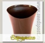 Кашпо Волна Темный шоколад, 1,5 л