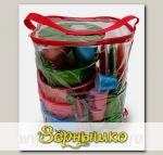 Набор посуды для готового обеда на природе Все в одном- на 4 персоны в футляре-сумке
