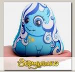 Игрушка-мочалка растущая в воде Лошадка Голубая