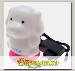 Светильник-ночник аккумуляторный Собачка на розовой подставке