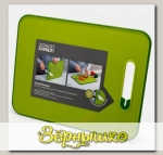 Разделочная доска с ножеточкой Joseph Joseph Slice&Sharpen™ Small Зелёная